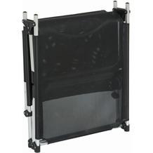 Siena Garden Dreibeinliege XXL silber/schwarz Gestell silber/Ranotex®-Gewebe schwarz Sonnenliege