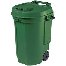Siena Garden Fahrbarer Abfallbehälter grün, 110L, 55x58x81cm