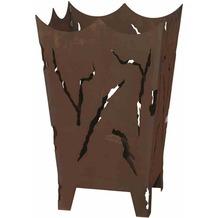 Siena Garden Feuerkorb Mystic mit Schiebeplatte zum Entleeren der Asche Metall mit Edelrost