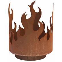 Siena Garden Flammenkorb, offene Feuerstelle für Holz Metall mit Edelrost