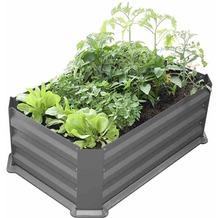 Siena Garden Hochbeet mit Boden 80x50x30cm grau
