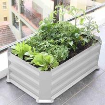 Siena Garden Hochbeet mit Boden 80x50x30cm vintage weiß