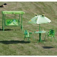 Siena Garden Kinderhollywoodschaukel Froggy mit Froschmotiv, L 77,5 x B 108 x H 125 cm