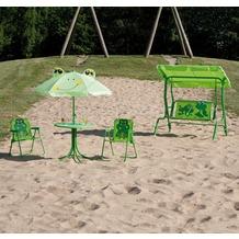 Siena Garden Kinderset Froggy, Stahlgestell, Bezug Polyester, bestehend aus: 2 Klappsesseln, 1 Tisch, 1 Schirm