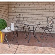 Siena Garden Klappstuhl Stella, Stahlgestell schwarz matt, Rückenlehne in Mosaik-Optik, L 37 x B 35 x H 91 cm