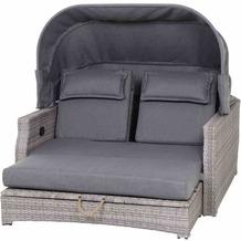 Siena Garden Lobos II Loungeinsel Gestell Aluminium matt anthrazit, Gardino®-Geflecht flint grey, inkl. Sitz- und Rückenkissen grau