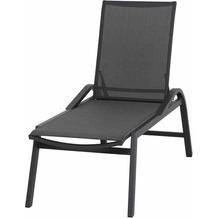 Siena Garden Milos Rollliege Gestell Aluminium matt-anthrazit, Fläche Ranotex®-Gewebe schwarz-silber