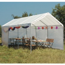 Siena Garden Partyzelt, inklusive Dach/Giebeln/Seitenteilen (ohne Fenster), weiß, Polyester, L 600 x B 300 cm