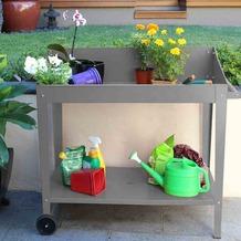 Siena Garden Pflanztisch grau 100x55x101cm