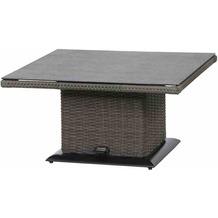 Siena Garden Porto Lifttisch 90x90x40/52/65 Cm Grau
