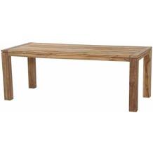 Siena Garden Rondo Dining Tisch 200x90x75 cm Gestell und Tischplatte Teakholz natur, Fläche Teakholz natur
