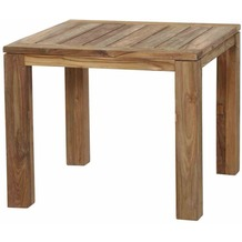 Siena Garden Rondo Dining Tisch 90x90x75 cm Gestell und Tischplatte Teakholz natur, Fläche Teakholz natur