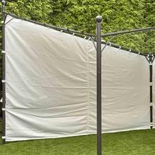 """Siena Garden Seitenteile zu Pavillon """"Berlino"""" 4x4 100% Polyester weiß/2 Stück"""
