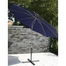 Siena Garden Sonnenschirm Push Up, Gestell: silber, Polyester: blau, 300 cm