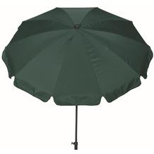 Siena Garden Sonnenschirm Tropico, grün, Gestell: anthrazit, Polyester grün, UV+50, Ø200cm