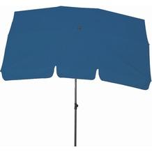 Siena Garden Sonnenschirm Tropico, Gestell: anthrazit, Polyester: blau UV+50, 210 x 140 cm