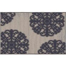Siena Garden Tantallon Outdoor-Teppich, 2er-Set 213x160 & 112x80 cm blau