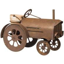 Siena Garden Traktor, inklusive Blumentopf Metall mit Edelrost, 60x42x30cm