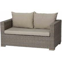 Siena Garden Veneto Lounge 2er Sofa sepia