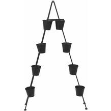 Siena Garden Vertical Garden Pflanzleiter, Metall schwarz matt, inklusive 8 Töpfen, 110x21x130cm