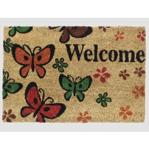 Siena Home Kokosmatte RUCO PRINT 40 x 60 cm, Welcome Butterfly