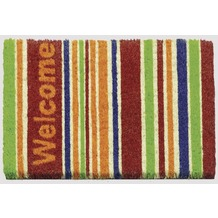 Siena Home Kokosmatte RUCO PRINT 40 x 60 cm, Welcome Stripes