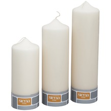 Siena Home Stumpenk. 20/25/30 creme 3er-Set