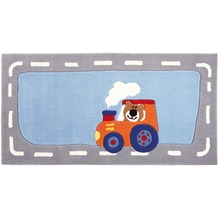 Sigikid Kinder-Teppich Happy Street Traffic SK-3346-01kl blau 70 x 140 cm