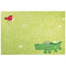 Sigikid Kinder-Teppich Happy Zoo Crocodile SK-3341-01 grün 70 x 140 cm