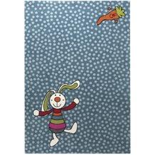 Sigikid Kinderteppich Rainbow Rabbit SK-0523-01 blau 80 x 150 cm