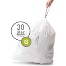 simplehuman 20 Müllbeutel G 30 l weiß