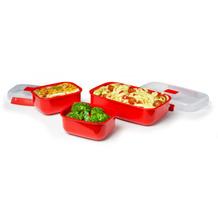 sistema Mikrowellengeschirr Heat & Eat 3er-Set, rot