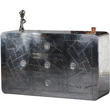 SIT AIRMAN Sideboard 2 Türen, 3 Schubladen silber