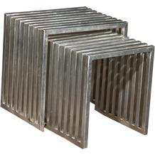 SIT ART & DECO 2-Satz-Tisch vernickeltes Metall silber