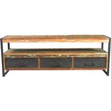 SIT BALI Lowboard 3 Schubladen, 1 offenes Fach bunt mit antikschwarz