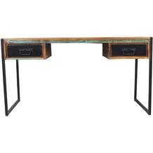 SIT BALI Schreibtisch 2 Schubladen bunt mit antikschwarz