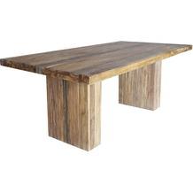 SIT BANDA Tisch 220x100 cm mit Eisenband natur