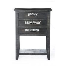 SIT BRONX Telefontisch 3 Schubladen antikschwarz