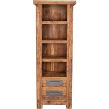 SIT CORAL Bücherregal 4 offene Fächer, 2 Schubladen natur