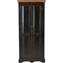 SIT CORSICA Schrank 2 Türen schwarz mit honigfarbiger Deckplatte