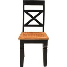 SIT CORSICA Stuhl, 2er-Set Brettsitz schwarz mit honigfarbiger Sitzfläche