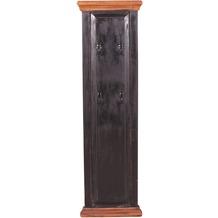 SIT CORSICA Wandgarderobe 4 Kleiderhaken schwarz, honigfarbig abgesetzt