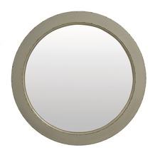 SIT COUNTRY CORNER Spiegel rund grau lackiert mit Gebrauchsspuren