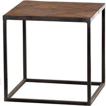 SIT CROSS Beistelltisch Holz natur, lackiert, Metall antik-grau