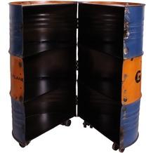 SIT DRUMLINE Barschrank 6 Fächer, auf Rollen orange/blau