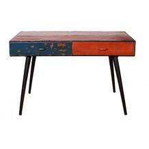 SIT DRUMLINE Schreibtisch 2 Schubladen orange/blau