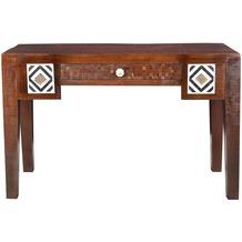 SIT EBONY Schreibtisch 5 Schubladen braun