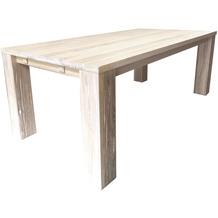 SIT FAUSTO Tisch verdeckte Stollen white wash groß