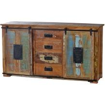 SIT JUPITER Sideboard 4 Schubladen, 2 Türen natur, bunt