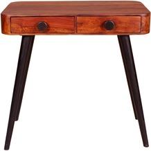 SIT KNOB Telefontisch 2 Schubladen natur, Beine antikschwarz